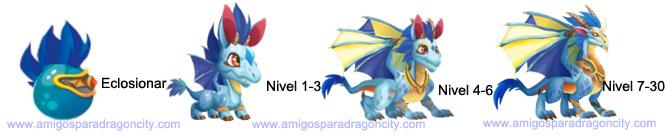 imagen del crecimiento del dragon mascota deus