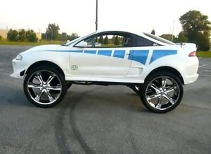 Subypalcom Mitsubishi Eclipse On 28 Inch Rims