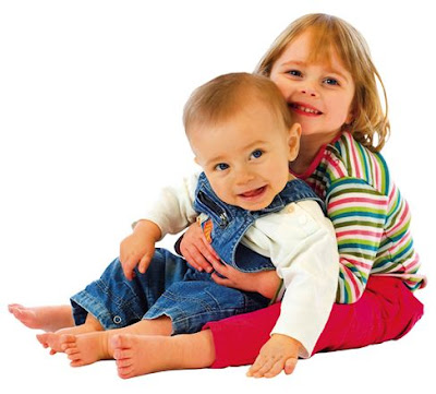 Picture of Cute Boy Girl Babies Playing