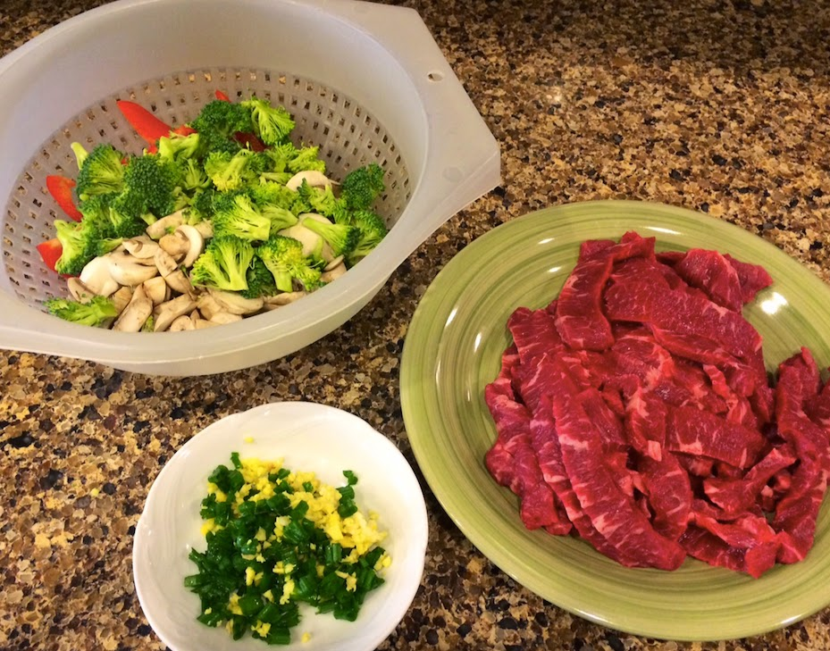 ... Worth Repeating!: Flank Steak Stir-Fry with Asparagus and Red Pepper