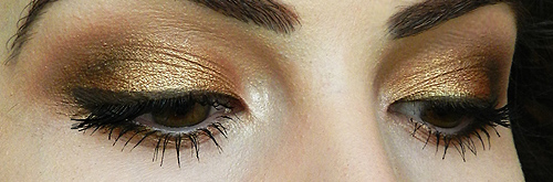 gold eyeshadow tutorial