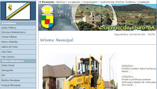 Gentio do Ouro – Site da Prefeitura Municipal está a pouco menos de ano sem atualizações: