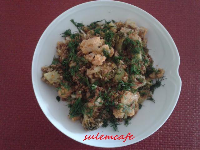 kolay sebze yemegi,karnabahar,brokoli