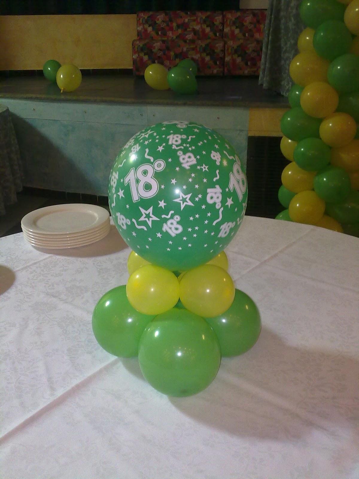 Lv balloon art compleanno 18 anni - Addobbi tavoli per 18 anni ...