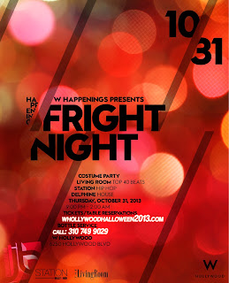 """Fright Night W Hollywood Halloween October 31"""