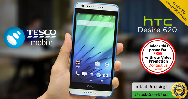 Factory Unlock Code HTC Desire 620 from Tesco