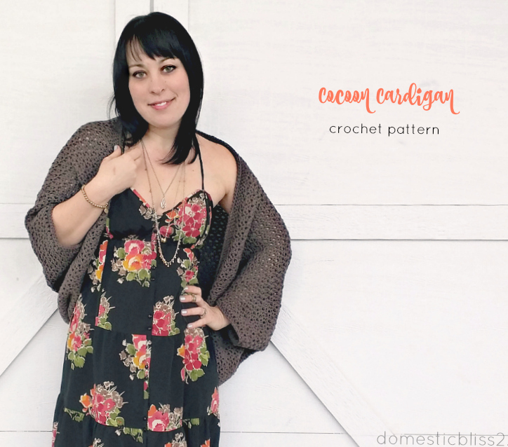 the cozy cocoon cardigan, a free beginner crochet pattern (one size fits all!)