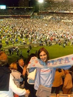 Celebración de la permanencia del Celta 2013