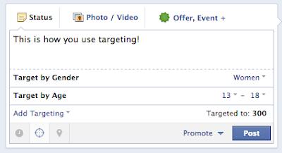 Страницы Facebook с 5000 и более фанов автоматически получают возможность таргетировать свои посты