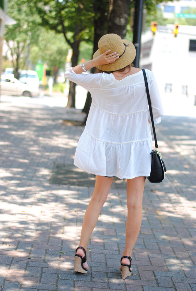Flowy white top love
