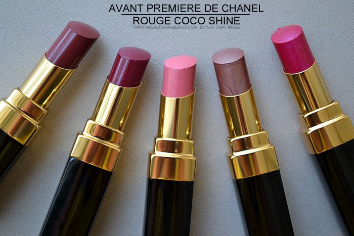 Avant-Premiere de Chanel Makeup Collection Spring Summer 2013 Collection - Photos Swatches - Rouge Coco Shine Lipsticks - Beauty Blog