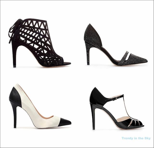 Distintos tipos de zapatos para una fiesta