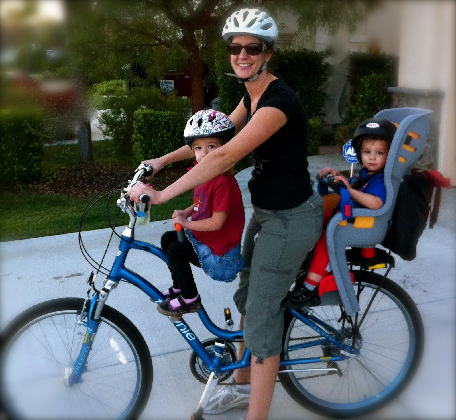 Bike Riding With Three Small Children
