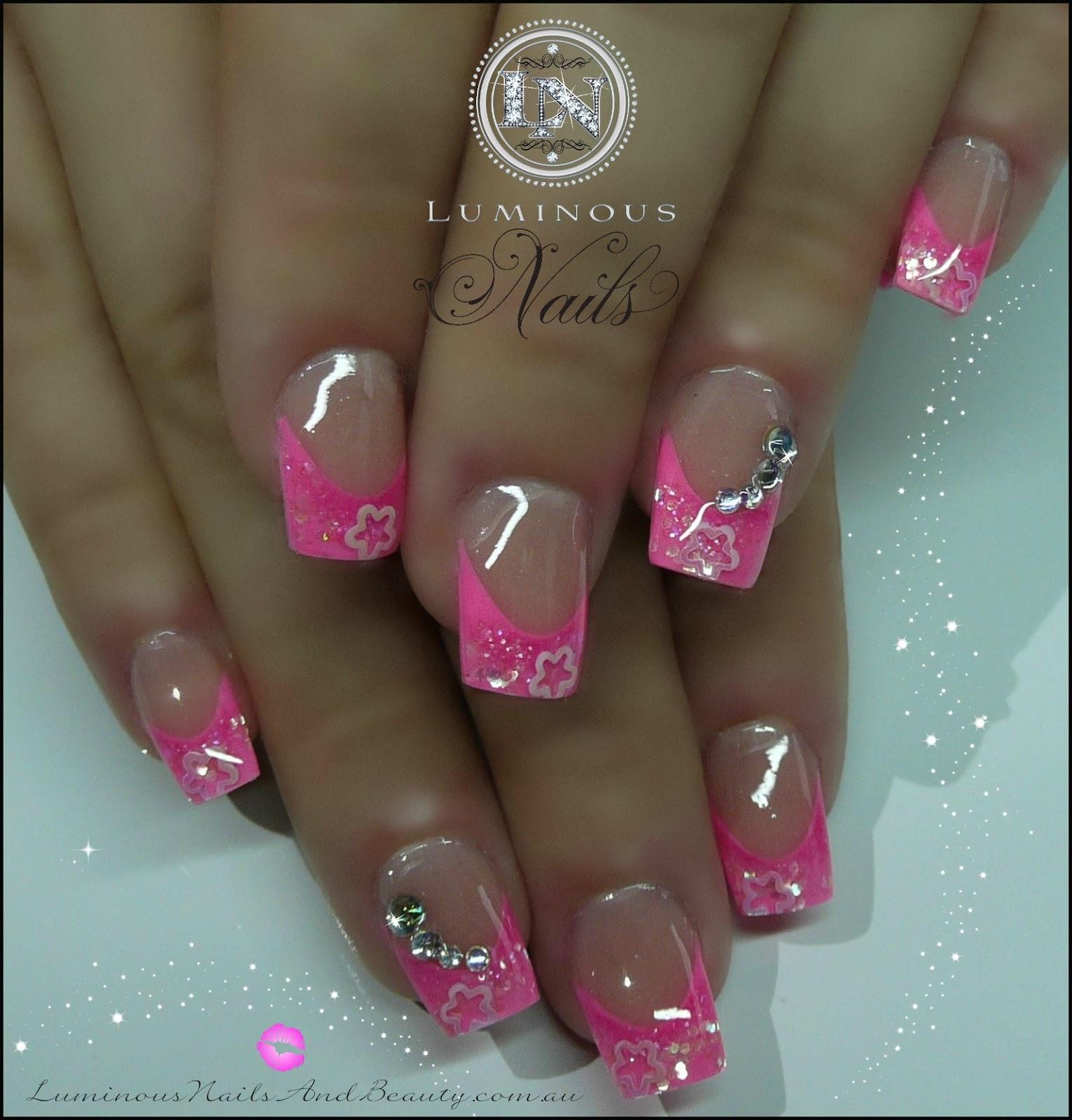 Pink Acrylic Nail Designs: Luminous Nails: May 2013