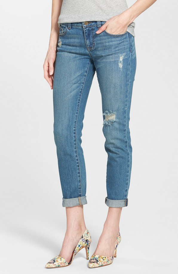 Weekend Steals & Deals | distressed girlfriend boyfriend jeans | Spring/Summer Fashion
