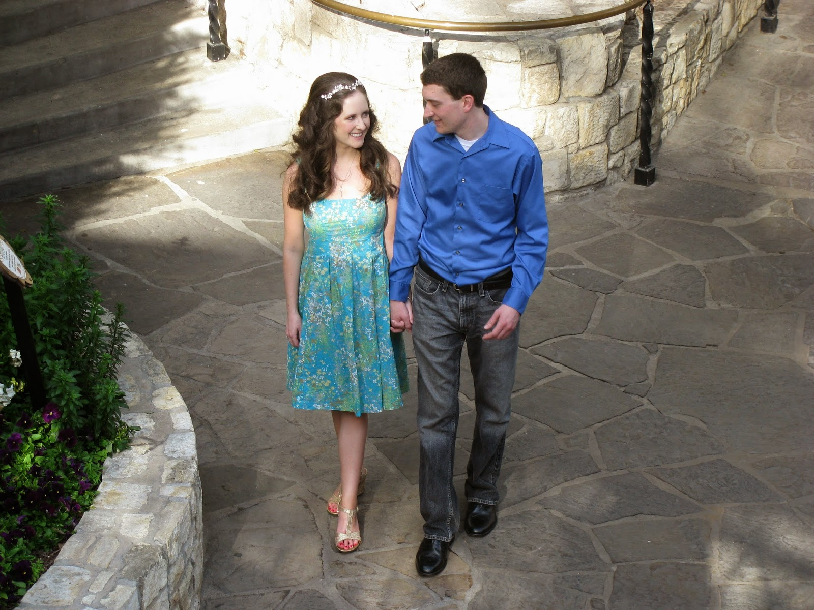 photo from the day before our wedding in San Antonio