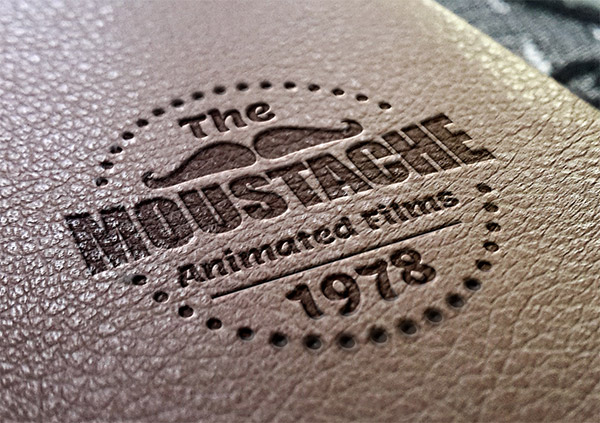 Download Logo Mockup PSD Terbaru Gratis - Leather Stamping 3 Logo Mockup