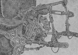 становка заднего навесного устройства по трехточечной схеме ХТЗ Т-74