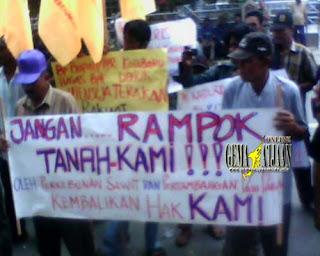 Demo, Minta Undang-undang Agraria Direvisi