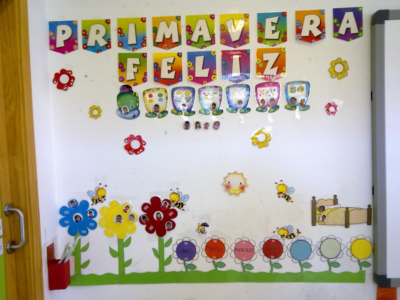 Quieres que te lo cuente otra vez decoraci n del aula for Decoracion del hogar en primavera