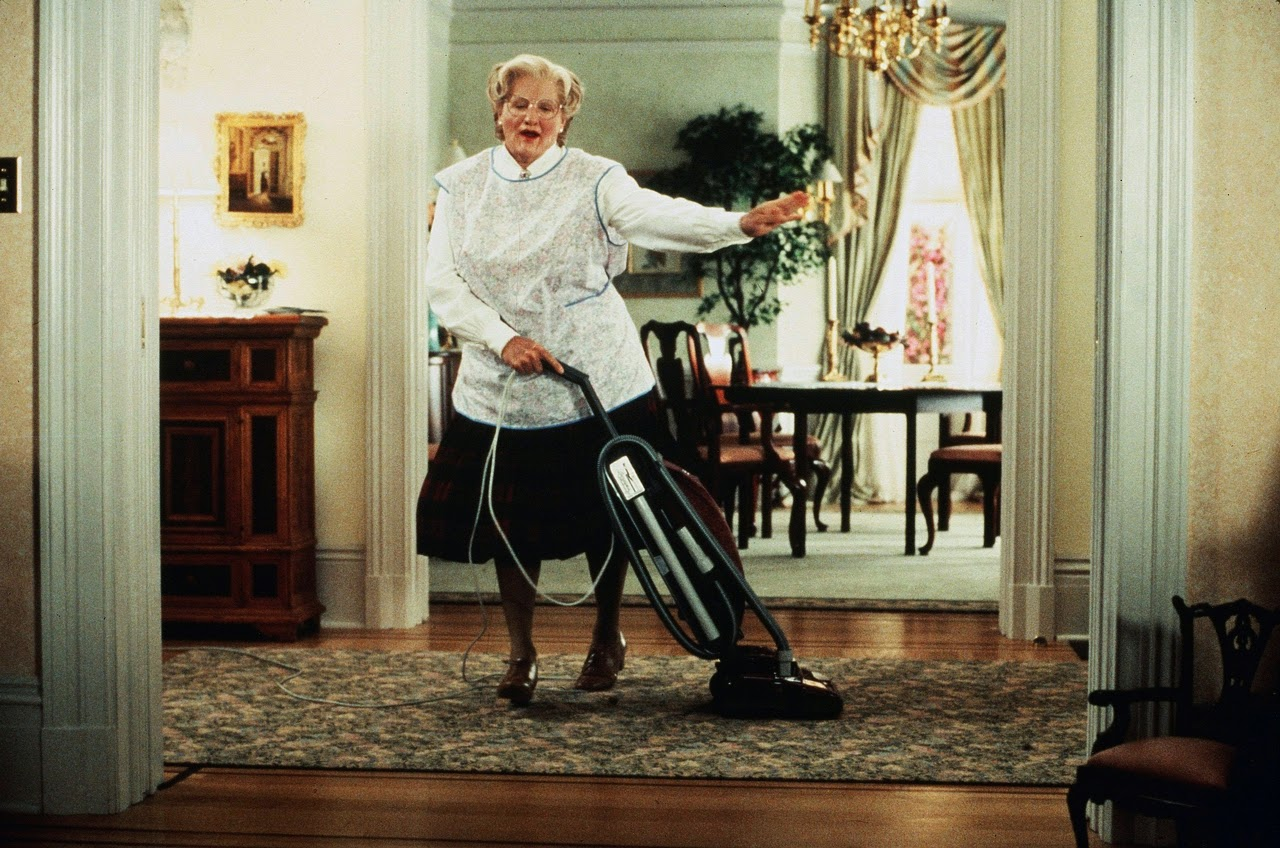 Robin Williams as Mrs Doubtfire 1951 - 2014 You will be missed. R.I.P.
