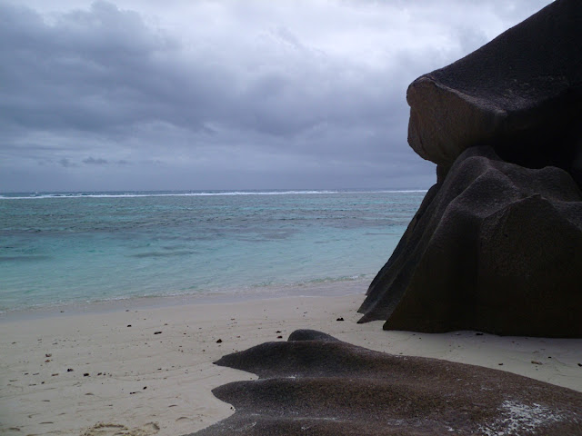 Ominous clouds at Anse Source D'Argent La Digue