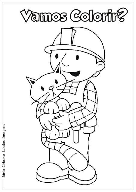 Bob o Construtor desenho para colorir