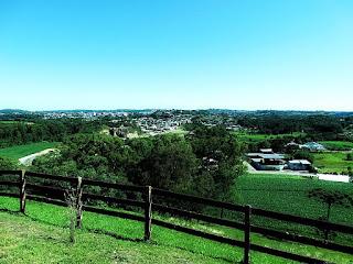 Cidade de Carlos Barbosa vista do Morro Calvário.