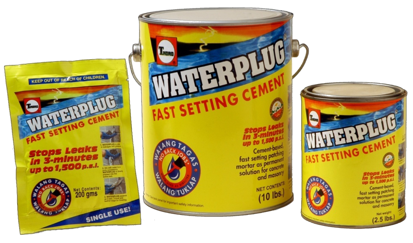 Waterplag - material for a quick stop of leaks 91