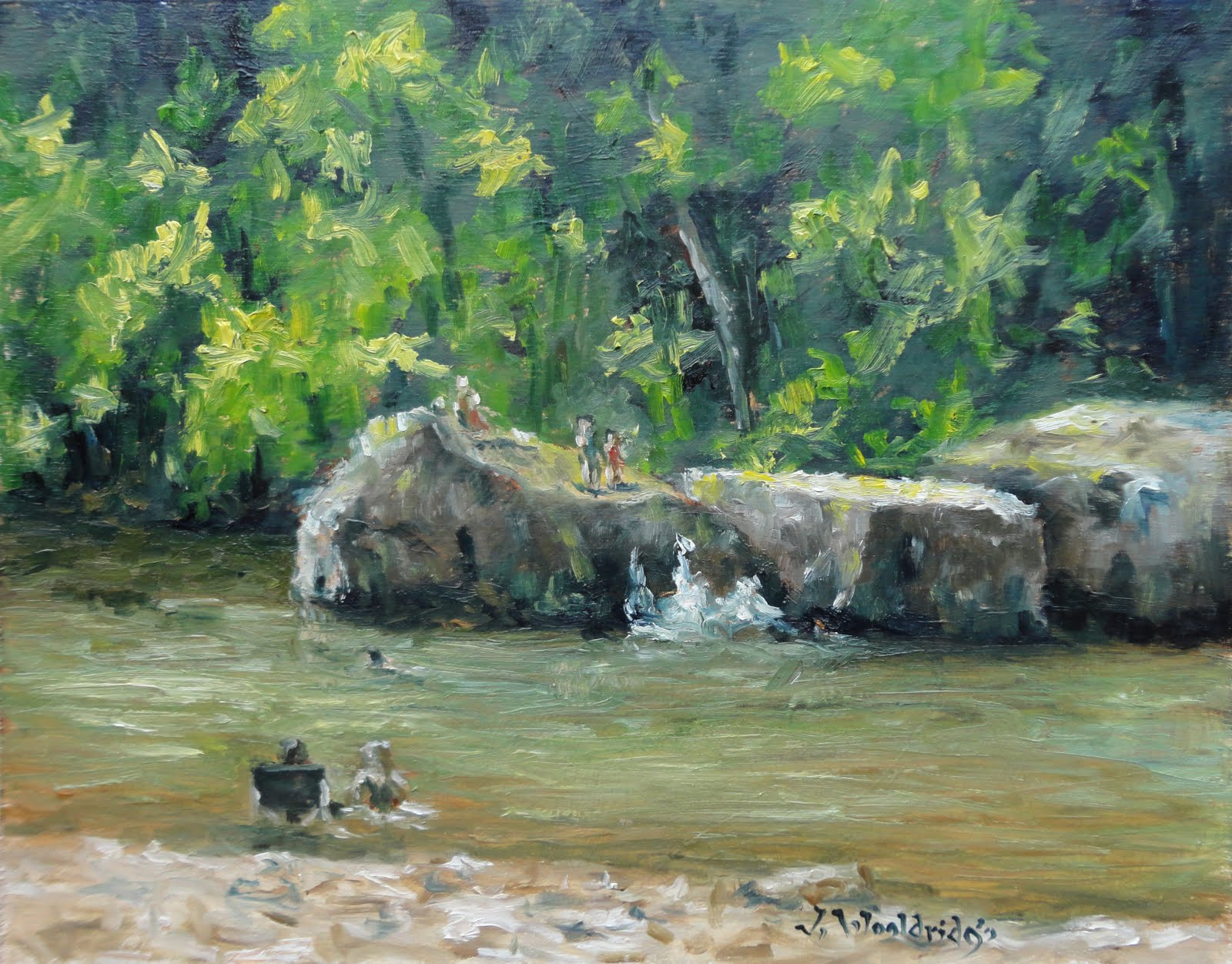 Painting Arkansas Long Pool Rocks Pope County