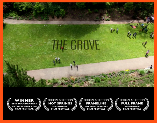"The documentary film ""The Grove"" is being broadcast on PBS."