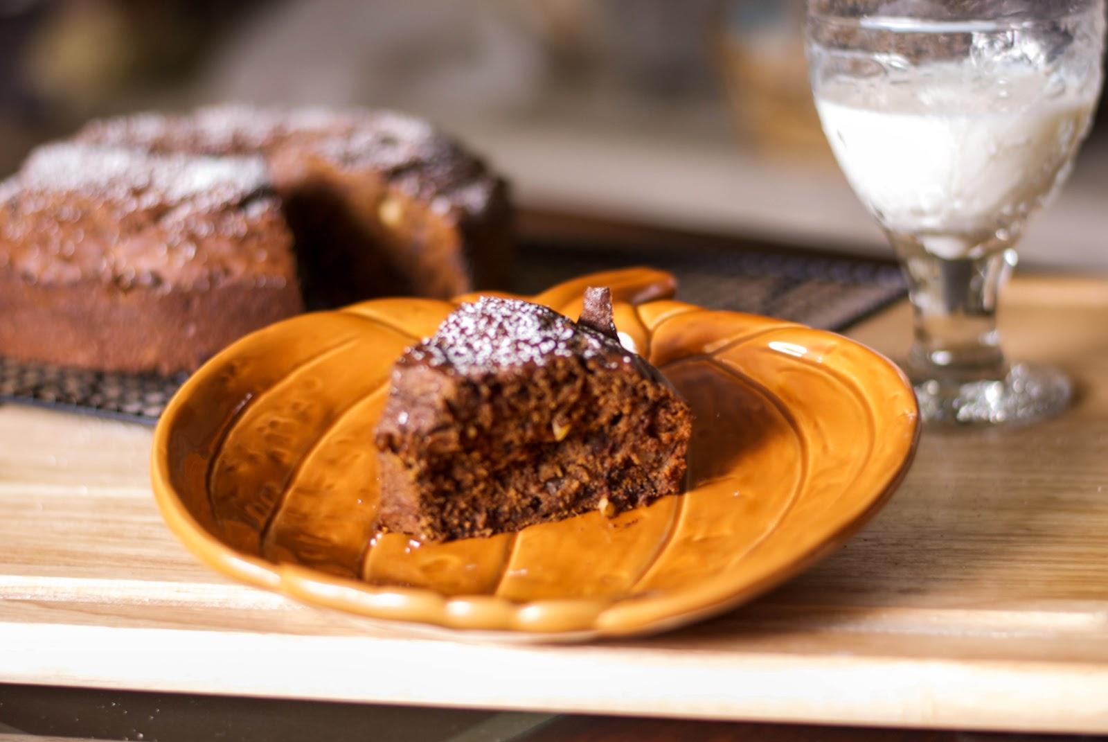 Chocolate Hazelnut Pumpkin Banana Bundt Cake - Carrie's Experimental ...