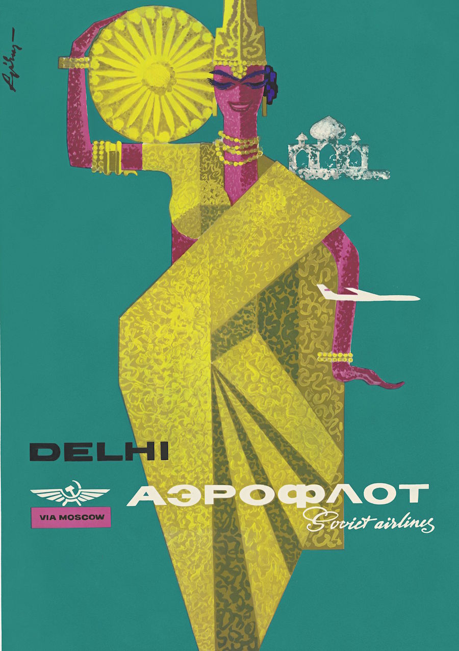 aeroflot airline advertising branding