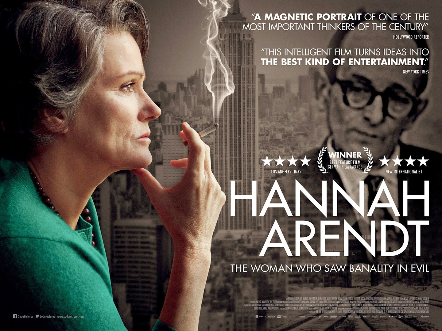 "Movie poster of ""Hannah Arendt"""