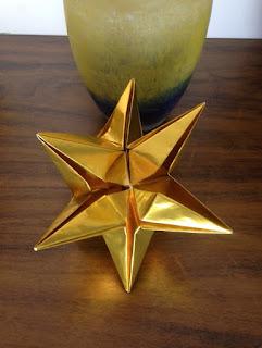 estrela origami natal