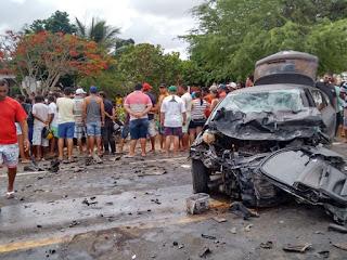 6 pessoas morrem em acidente de carro na BR-226 no RN