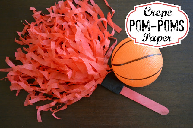 Mommy Testers: DIY Crepe Paper Pom Poms - Perfect for Game Day!