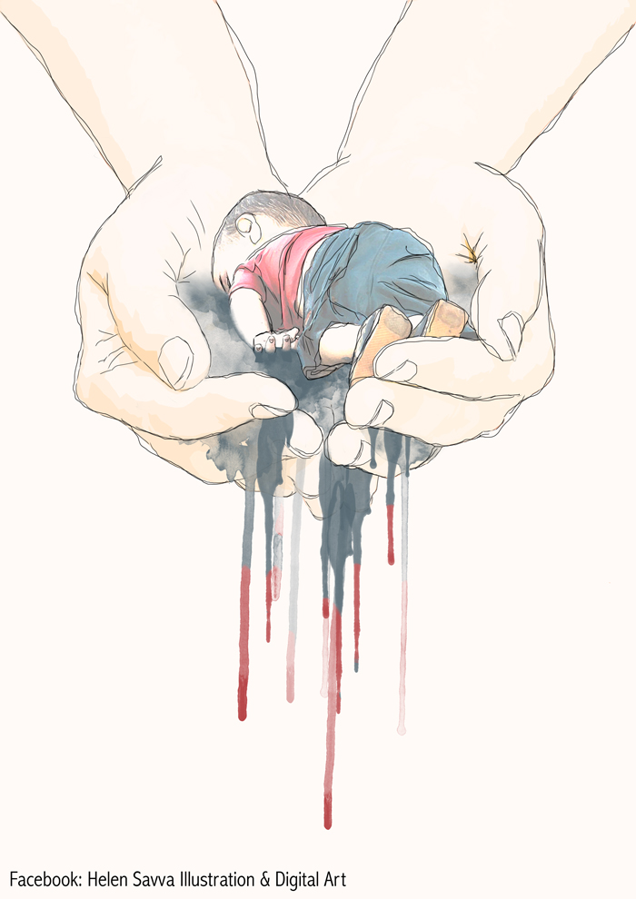 Artists Around The World Respond To Tragic Death Of 3-Year-Old Syrian Refugee - Humanity Slipping Away...