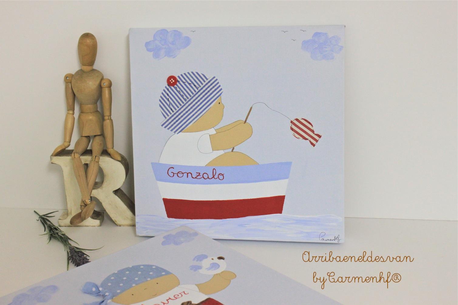 05 mar cuadros infantiles personalizados decoraci n - Cuadros para ninos personalizados ...