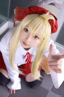 Tomoyo cosplay as Chiaki from Minami Ke