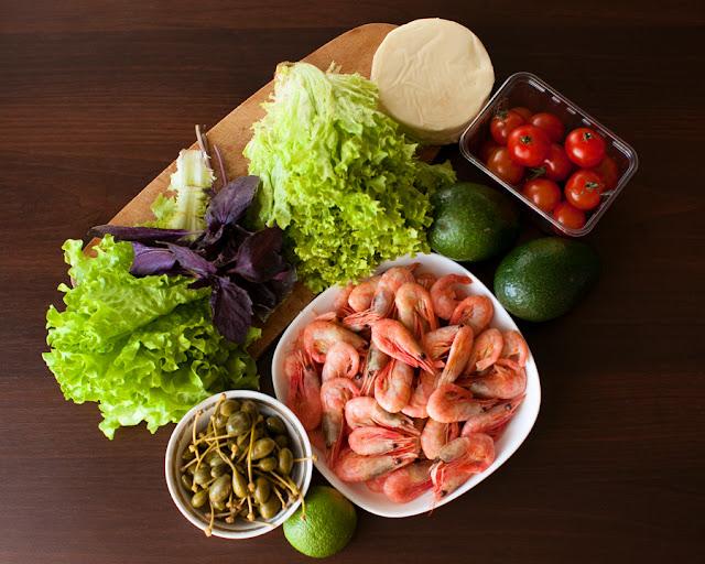 средиземноморский салат, ингредиенты