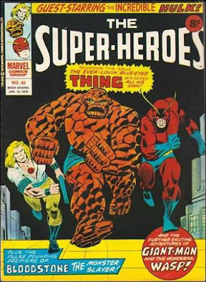 Marvel UK, Super-Heroes #45, Thing, Bloodstone, Giant-Man