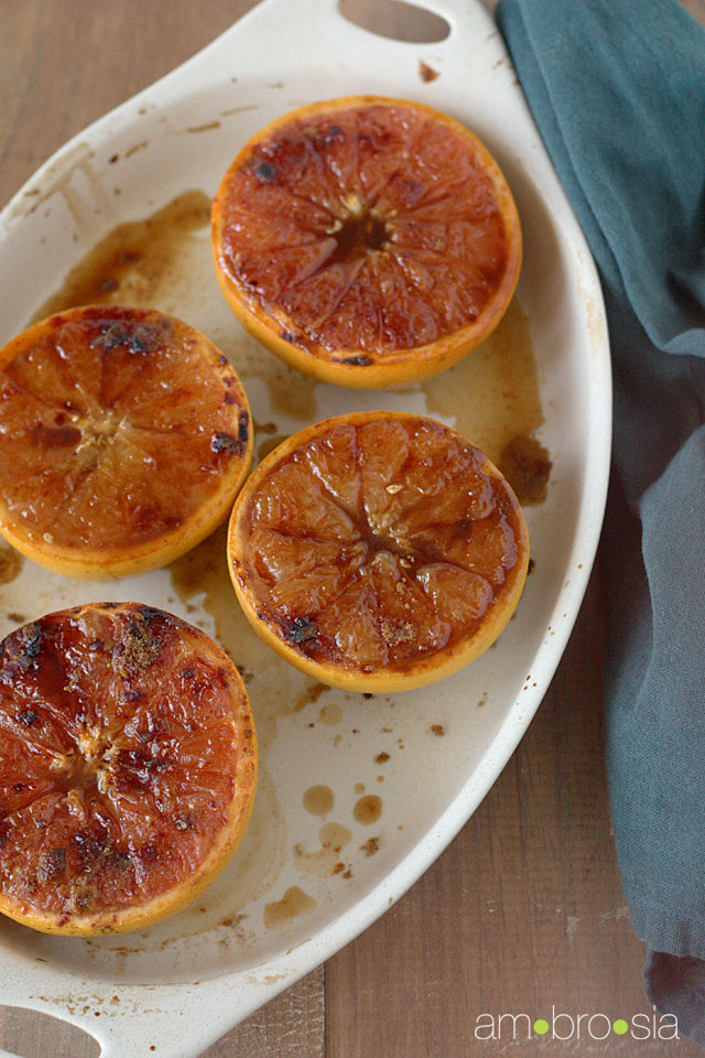 ambrosia: Broiled Grapefruit with Brown Sugar and Ginger
