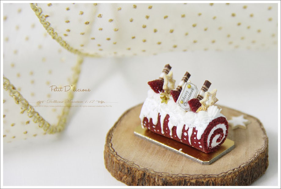 Decorating Ideas > Petit D Licious Red Velvet Christmas Yule Log Cake  ~ 115459_Log Cake Decoration Ideas