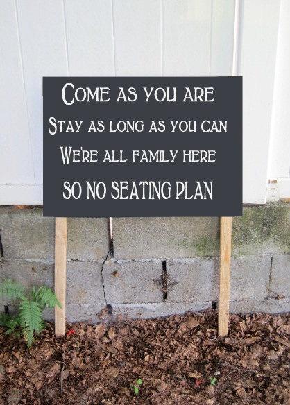 famille donc pas de plan de table