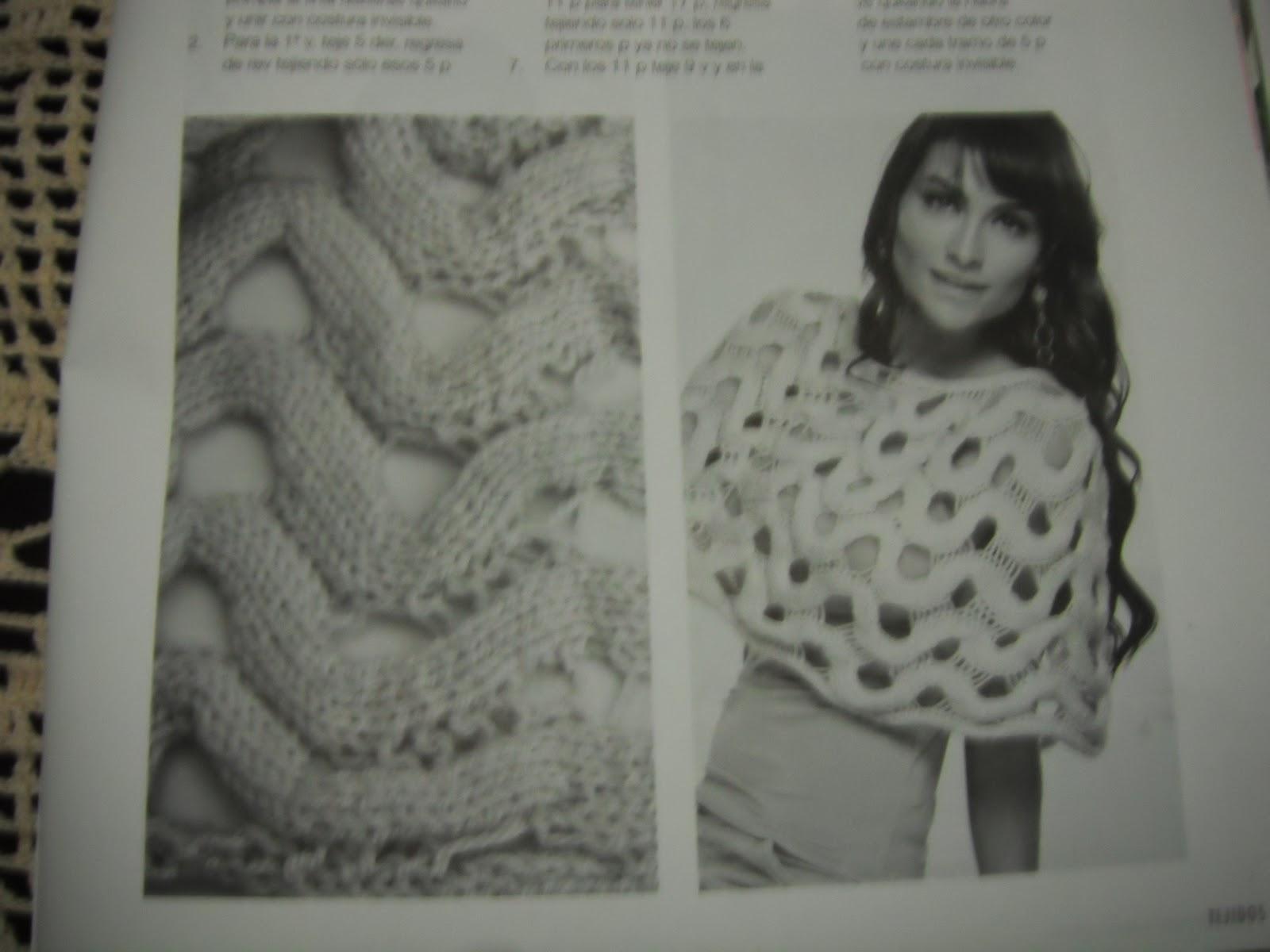Capa de ondas. Knitting. Aran. Cables.