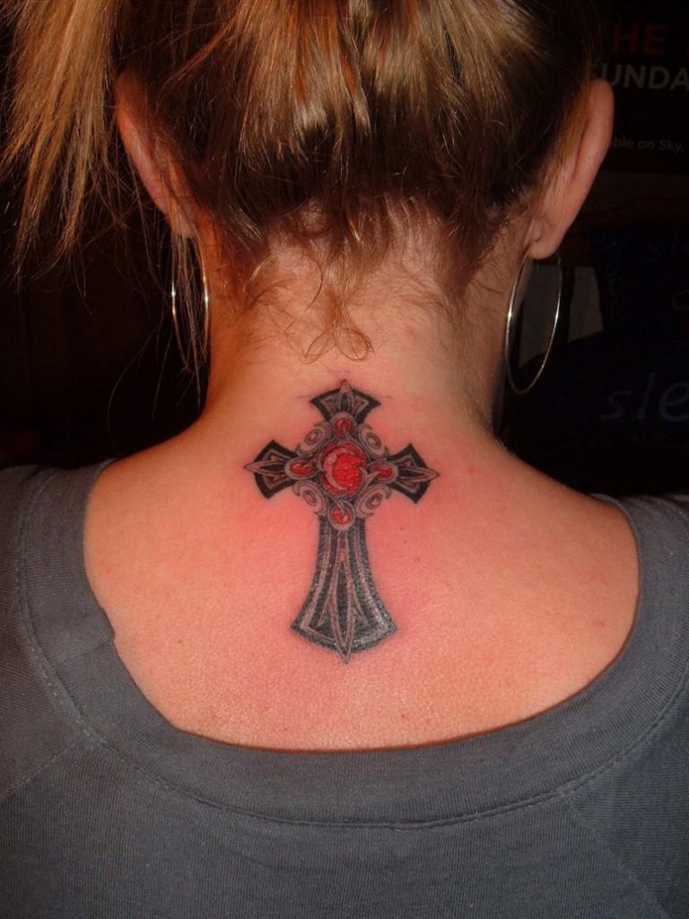 Cross tattoos for girls