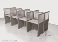 furniture kantor semarang - desain meja sekat kantor