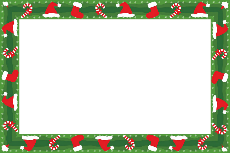 Christmas Craft Borders Transparent