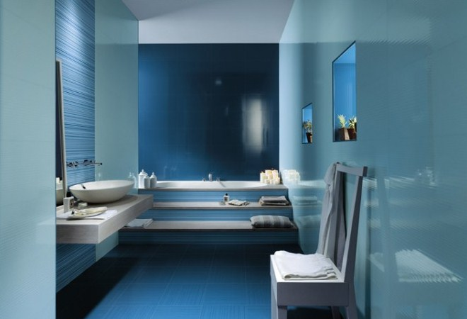 Modern and beautiful bathrooms design ideas with blue for Pictures of beautiful bathroom designs